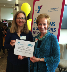 Elisabeth Stitt (MTC Volunteer) and Linda Eckols (MTC Vice Chair) at the 2015 Asset Champions Breakfast by Project Cornerstone to acknowledge MTC's nomination for a 2015 Asset Champion Award (March 20)
